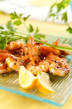 Dublin bay prawns with lemon and garlic