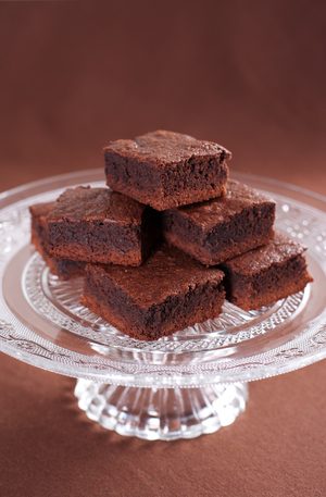 Boozy Irish cream brownies