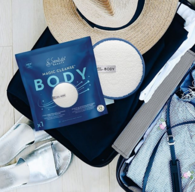 Power your way to soft, clean skin daily withthis new body mitt.