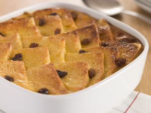 Baileys bread and butter pudding