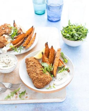 Back to school recipes with Donegal Catch: Wholegrain Donegal Catch with sweet potato wedges