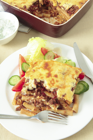 Beef and macaroni pie (Pastitsio)
