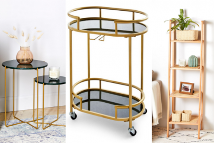 Penneys are bringing back the gold bar cart along with loads of chic furniture