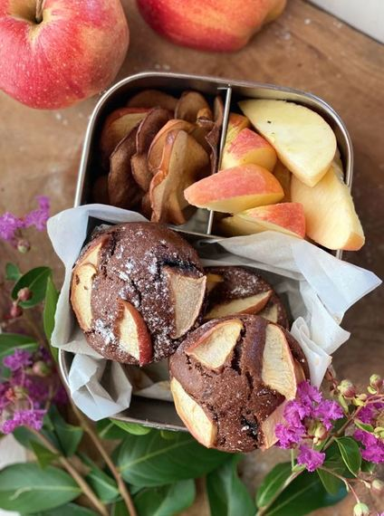 Chocolate flavour Apple Muffins