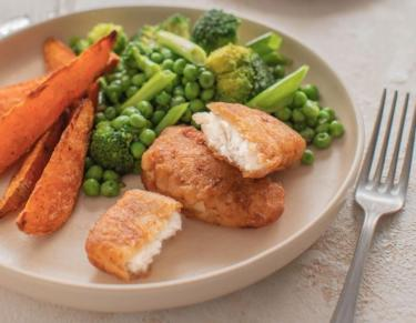 Simple family recipes with Donegal Catch: Haddock Bites with Green Vegetable Medley