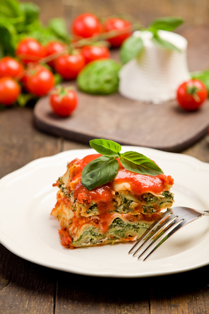 Spinach and cream cheese lasagne