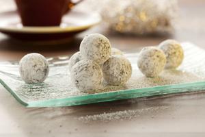 Mint chocolate truffles