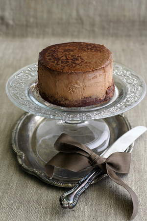 Heavenly chocolate cheesecake