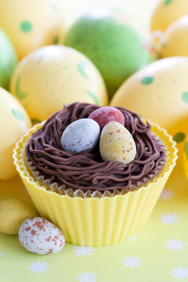 Chocolate fudge Easter cakes