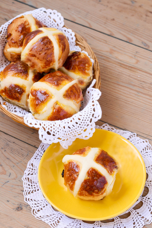No-fuss hot cross buns