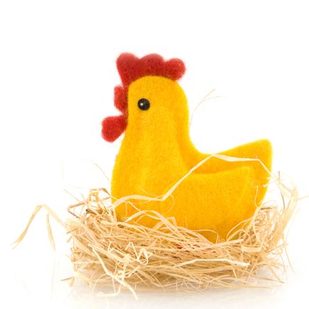 Easter chick egg-warmer