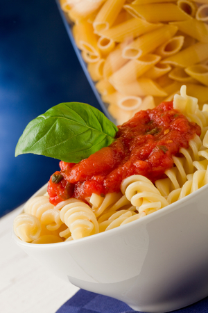 Pasta with tomato and hidden vegetable sauce