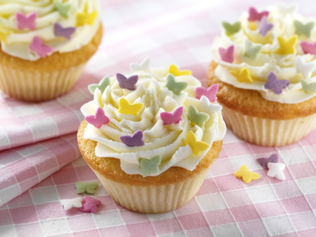 Raspberry rose cupcakes