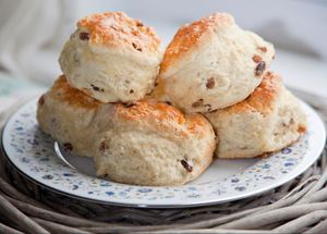 Traditional cream tea scones