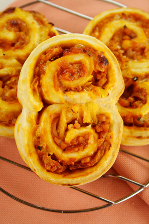 Ham, pineapple and cheese scrolls