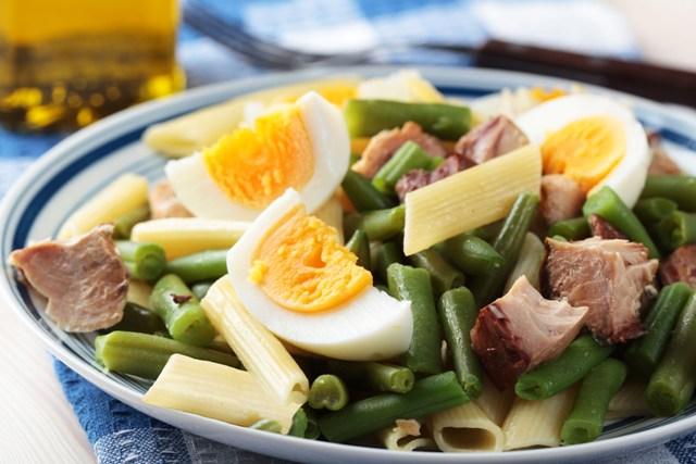 Gluten free pasta Nicoise salad