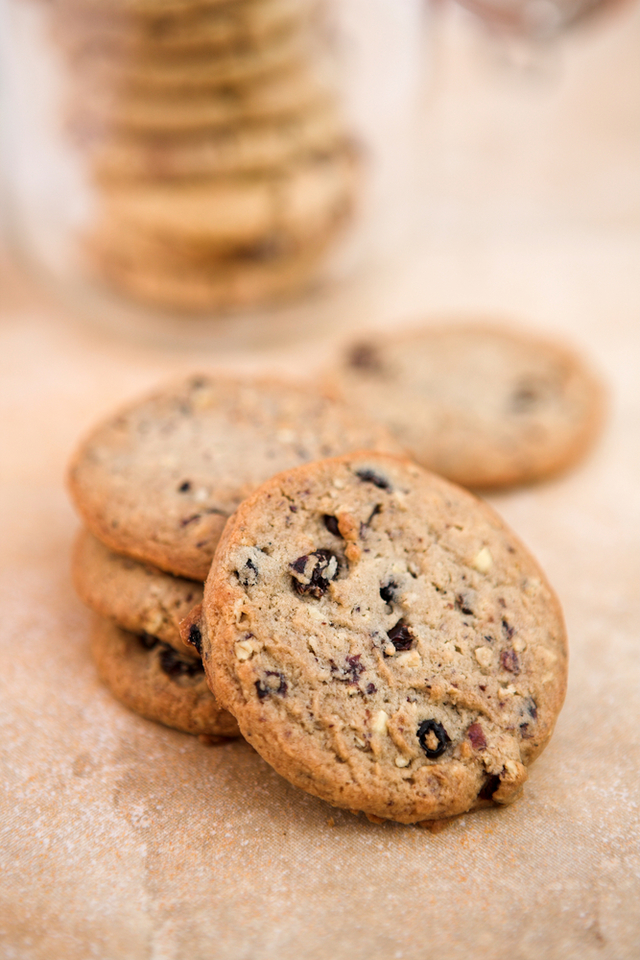 Blueberry and pecan cookies
