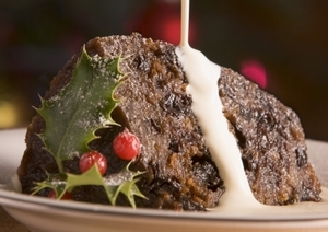 Light Christmas pudding