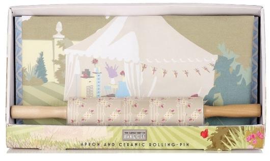The Great British Bake Off Apron & Ceramic Rolling-Pin Set