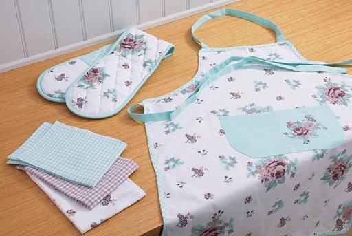 Vintage floral textile set