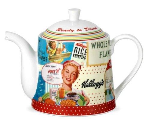 Vintage Kelloggs tea pot