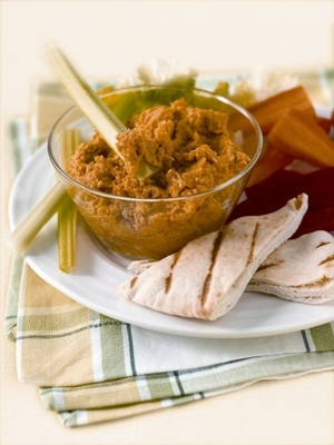 Roasted red pepper houmous