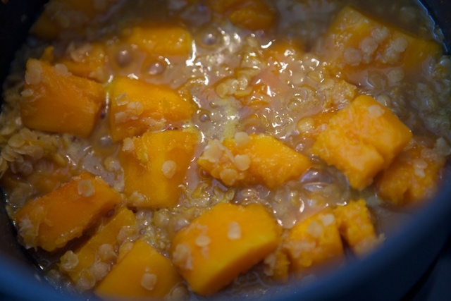 Butternut squash and lentil