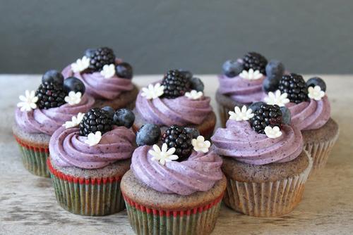 Blueberry-Blackberry Cupcakes