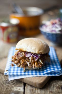 Deep South Pulled Pork Sliders with Buttermilk Coleslaw
