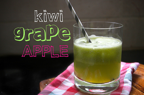 Kiwi grape apple juice