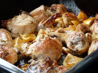 Slow-Roasted Garlic and Lemon Chicken