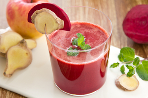 Beetroot, apple, carrot and ginger juice