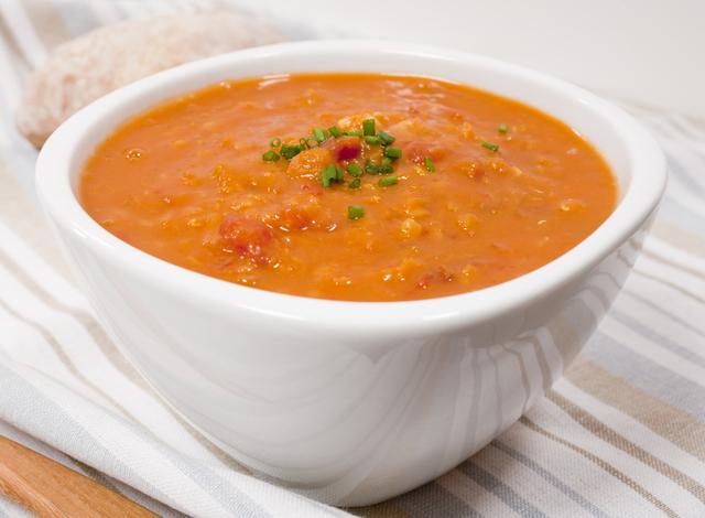 Spiced lentil and ginger soup