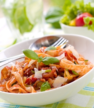 Tagliatelle with vegetable ragu
