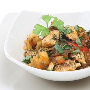 One pot lentil chicken