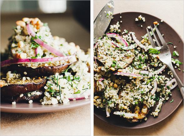 Eggplant and quinoa salad
