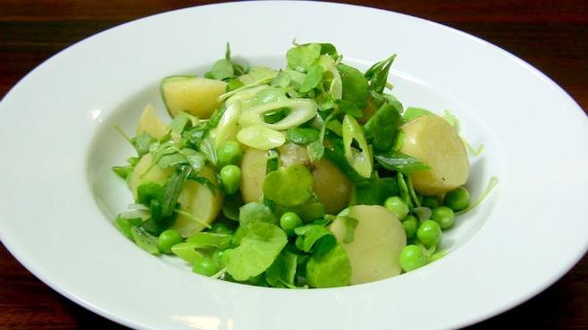 Warm French potato salad