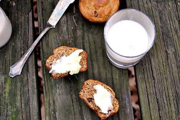 Banana chocolate chip gluten-free muffin