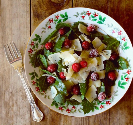 Sugared cranberry salad