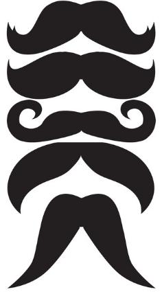 Printable moustaches