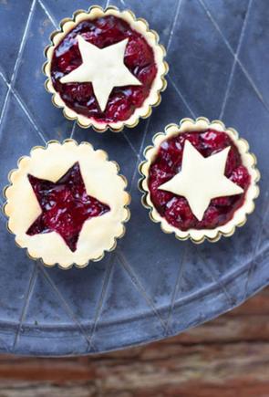 Cherry star pies