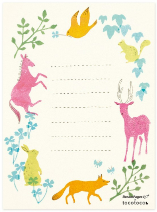 Animal Note Sheets