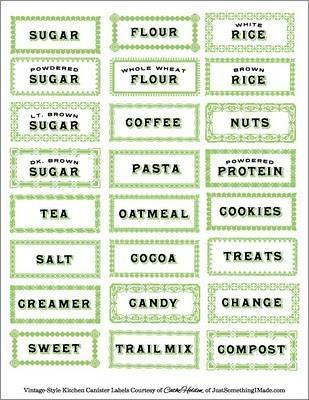 Fun Kitchen Labels