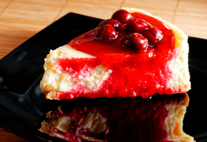 Low-fat cherry cheesecake