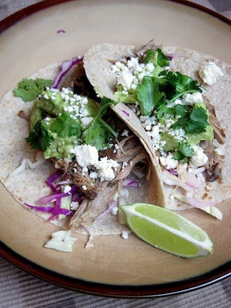 Slow-cooker carnitas tacos
