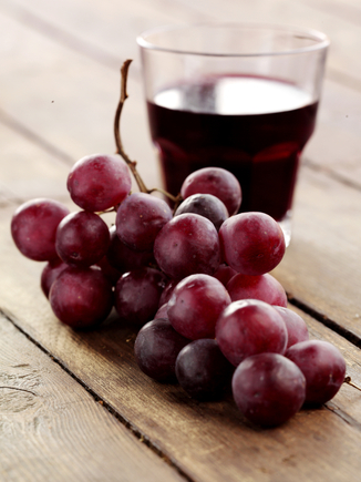 Grape juice and red wine