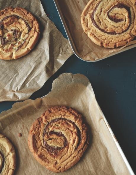 Hazelnut swirl cookies