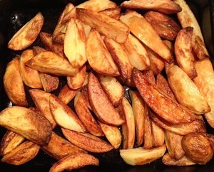 Oven roasted chips