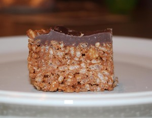 Mars Bar and Rice Krispie squares