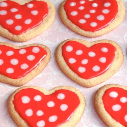 Minnies polka dot cookies